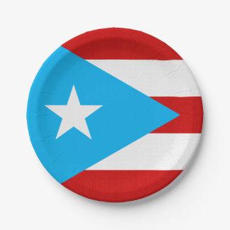 Servet van de Vlag van Puerto Rico van de hemel Papieren Bordje