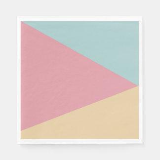 Servetten in Abstract papier Trio Pastelkleurig Wegwerp Servetten