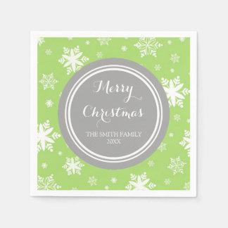 Servetten van de Sneeuwvlokken van Kerstmis van de Wegwerp Servet