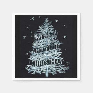 Servetten van een de Vrolijke Weinig van Kerstmis Papieren Servet