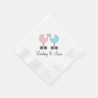 Servetten van het Baby shower van Buggies van de Papieren Servet