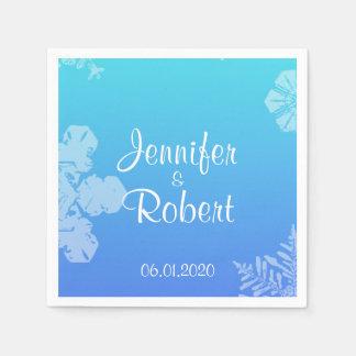 Servetten van het Huwelijk van de blauwe en Papieren Servetten