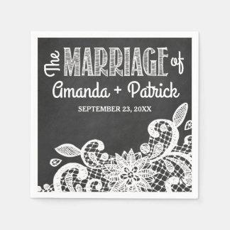 Servetten van het Huwelijk van het Land van het Papieren Servet