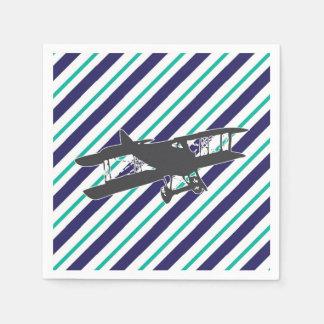 Servetten van het Vliegtuig van de Tweedekker van Wegwerp Servetten
