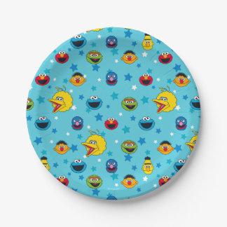 Sesame Street | Beste Patroon van de Ster van Papieren Bordje