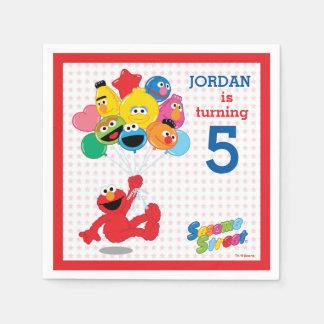 Sesame Street | Elmo en Vrienden - de Ballons van Wegwerp Servetten