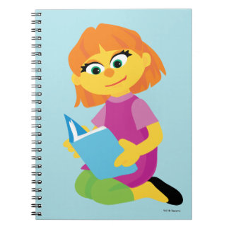 Sesame Street | Julia Reading een Boek Ringband Notitieboek