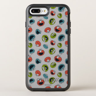 Sesame Street | Patroon van het Team van All Star OtterBox Symmetry iPhone 8 Plus / 7 Plus Hoesje