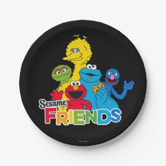 Sesame Street | Vrienden van de Sesam Papieren Bordje