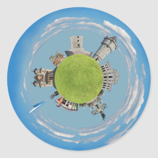 severin uiterst kleine planeet Roemenië van Ronde Stickers