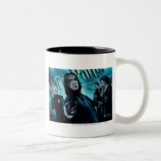 Severus Snape met Eters 1 van de Dood Tweekleurige Koffiemok