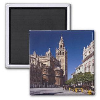 Sevilla, Spanje   La Giralda Vierkante Magneet