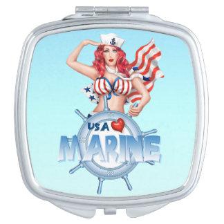 SEXY MARIEN compact de spiegelVIERKANT van de V.S. Make-up Spiegeltje