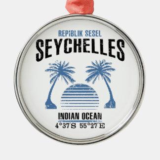 Seychellen Zilverkleurig Rond Ornament
