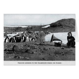 Shackleton in Antarctische Grammofoon met Kaart