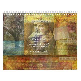 Shakespeare citeert Douane Gedrukte Kalender