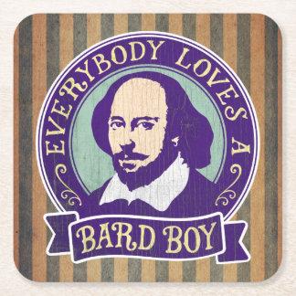 Shakespeare iedereen houdt van een Bard Jongen Vierkante Onderzetter