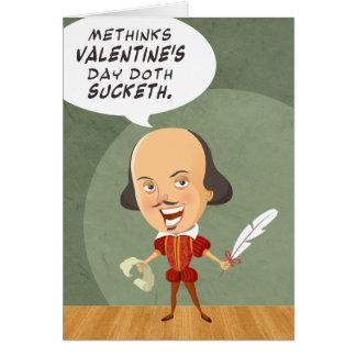 Shakespeare niet in het Wenskaart van de Liefde