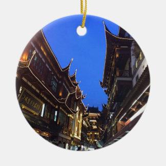 Shanghai Rond Keramisch Ornament