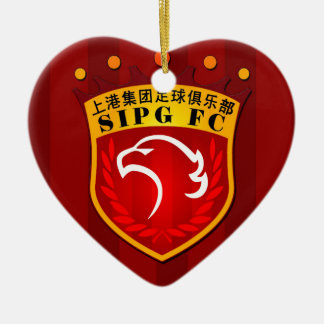 Shanghai SIPG F.C. Keramisch Hart Ornament
