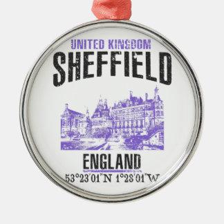 Sheffield Zilverkleurig Rond Ornament