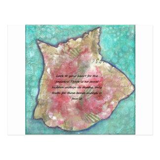 Shell van de kroonslak briefkaart