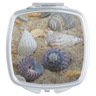 Shells compacte spiegel make-up spiegeltje