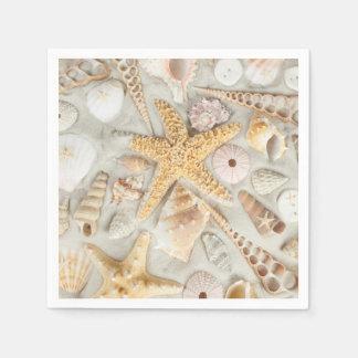 Shells van het zee wegwerp servet
