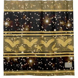 Shells van sterren het Decoratieve Gouden Gordijn