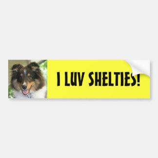 Sheltie, I LUV SHELTIES! Bumpersticker