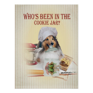 SHELTIE Who is in het Poster van de Koekjestrommel