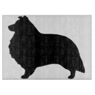 Shetland de zwarte van de herdershondsilo snijplank