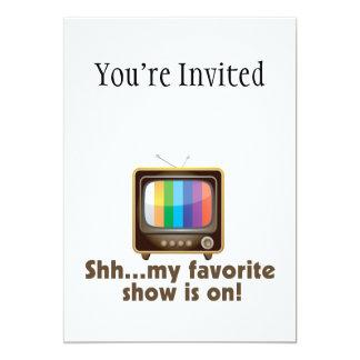 Shh Mijn Favoriet toont op Televisie is Kaart