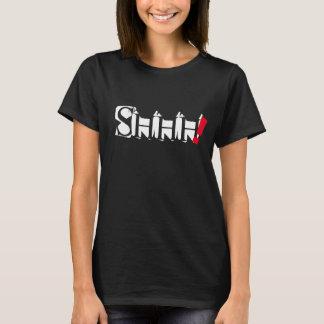 shhh trendy de t-shirtontwerp van het woordcitaat t shirt