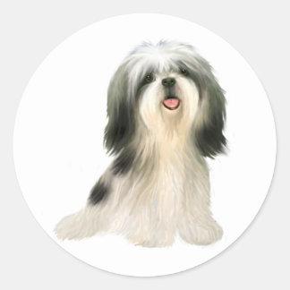 Shih geïllustreerde Tzu (3) - Ronde Sticker