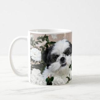 Shih Tzu en rozen Koffiemok