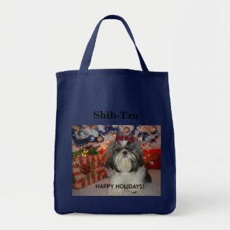 Shih-Tzu - het Gelukkige Bolsa van de Vakantie Draagtas