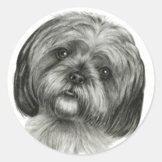 Shih Tzu Ronde Sticker