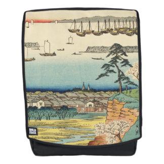 Shinagawa, Japan: De vintage Druk van de Houtsnede Rugtassen