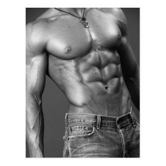 Shirtless Mannetje in het Briefkaart van Jeans