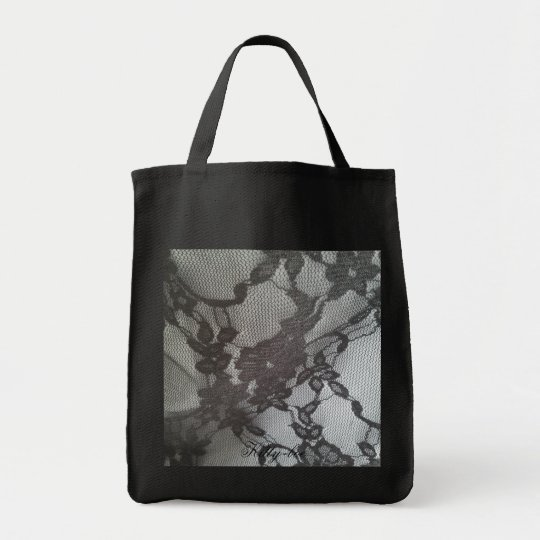 Shopper grey lace Kitty-boe eco materiaal Draagtas