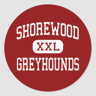 Shorewood - Hoge Windhonden - - Shorewood Ronde Sticker