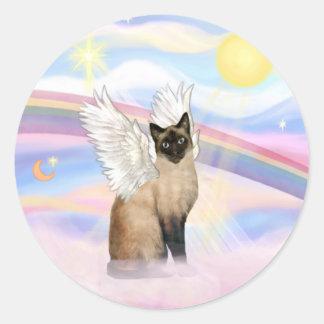 Siamese 22 - Wolken Ronde Sticker