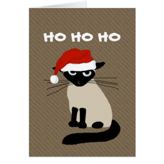 Siamese Clausule van het Kat - Grappige Kerstmis Kaart