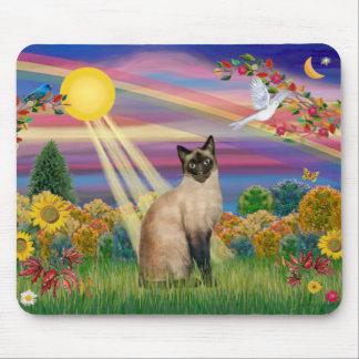 Siamese Kat - de Zon van de Herfst Muismatten