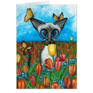 Siamese Kat door Bihrle Card Kaart