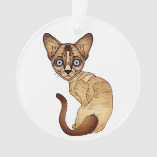 Siamese Ornament van de Cirkel van de Kat