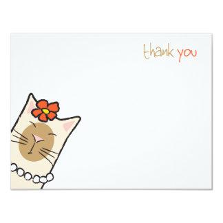 Siamese Vlakke Minnaar | van de Kat dankt u nota Kaart