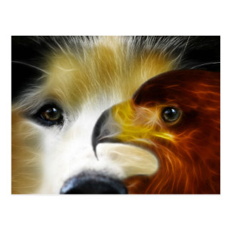 Siberië Schor Machtig Eagle Briefkaart