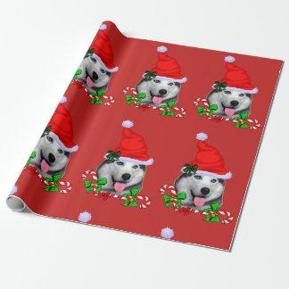 Siberische Schor Kerstmis Inpakpapier